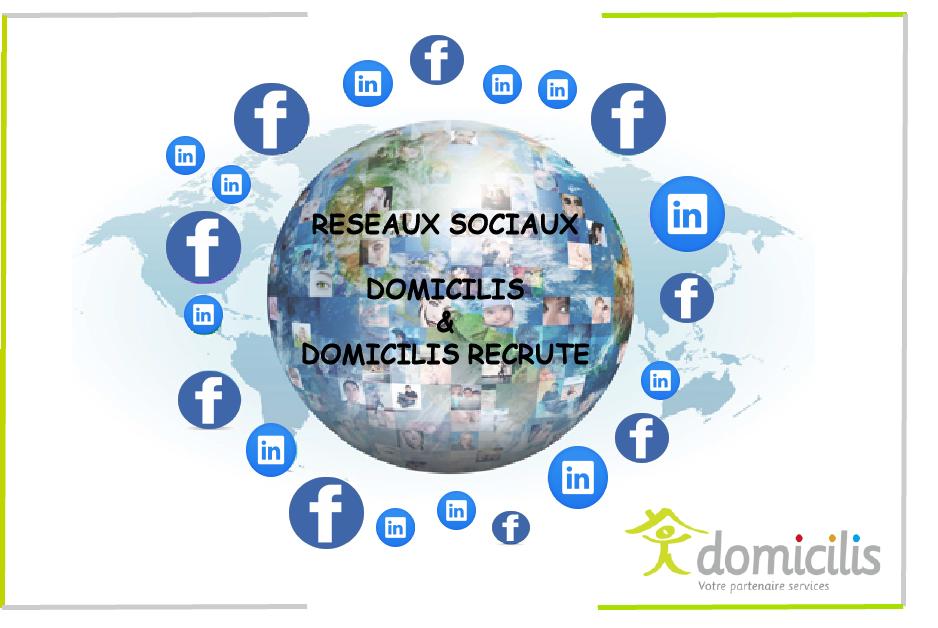 Domicilis présent sur les réseaux sociaux !