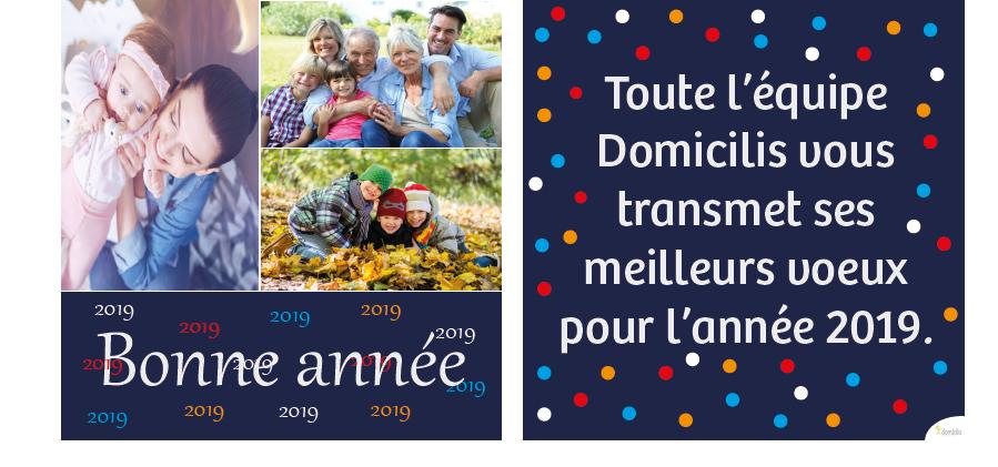 Domicilis vous adresse ses meilleurs vœux pour 2019 !